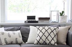 Homevialaura | Chhatwal & Jonsson | Ikat and New Paisley linen cushions from Zarro Store Helsinki