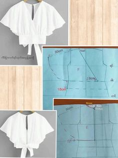 modelagem, MODA patrones, costura, moldesprontos, fashions - Her Crochet Dress Sewing Patterns, Blouse Patterns, Sewing Patterns Free, Clothing Patterns, Blouse Designs, Blouse Sewing Pattern, Skirt Patterns, Sew Pattern, Fabric Sewing