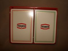 TEXACO Advertising Playing Cards ~ 2 Decks in Plastic Box ~ Vintage Redislip Playing Cards by PastPossessionsOnly on Etsy