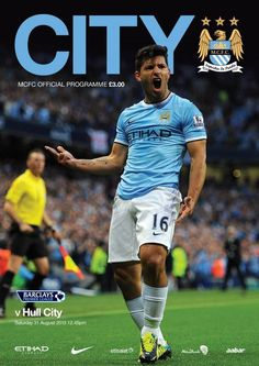 Manchester City v Hull City matchday programme front cover #mcfc