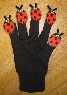 5 Little Ladybugs - with printable + other bug activities. FREE