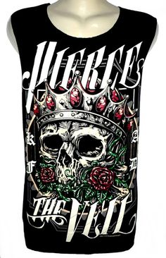 PIERCE THE VEIL skull Rock Band Music Metal T par BestRockShirts, $12.90