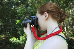 Red Paracord Camera Strap with Winchester by CreativeCowgirl, $40.00