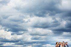 stormy sky, beautiful ladies