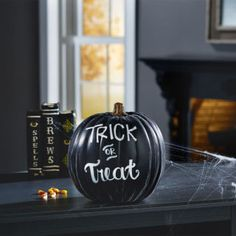 You can put the knife away for these artsy, no-carve pumpkins.