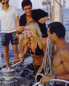 Brigitte Bardot and Alain Delon in St Tropez, 1968