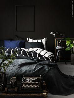 ikea duvet cover alvine black