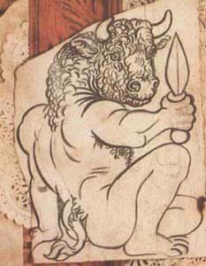 Projet d'écriture à partir d'illustration, ici un Minotaure de Picasso