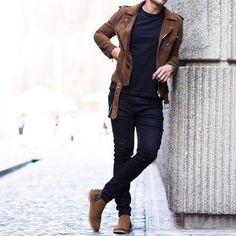 9 roupas da moda no guarda-roupa masculino nesta temporada - Mood - Stylish Mens Outfits, Hipster Outfits, Boho Outfits, Casual Outfits, Men Casual, Fashion Outfits, Fashion Boots, Winter Outfits Men, Photoshoot Fashion