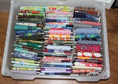 Tutorial on how to store your quilting fabric!  FABRIC STORAGE