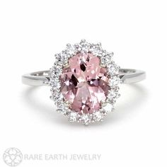 Morganite Engagement Ring Pink Morganite Ring by RareEarth on Etsy