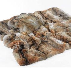 Coyote Fur Blanket & Pillow