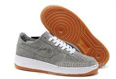 Nike Air Force 1 Low Hombre Anti-Fourrure Gray (Nike Air Force 1 Dorado) Free Shipping