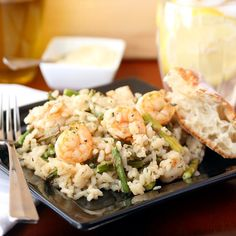 Shrimp and Roasted Asparagus Risotto