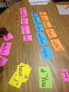 Easy Sentence Strip Center Idea!