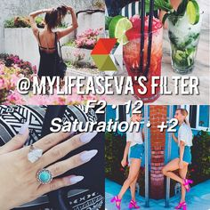 Instagram media by tropical.filters - ↠ @mylifeaseva 's Filter! ↠ Looks Best With - Anything ↠ Theming - 9.5/10 It's very easy to theme if you post bright colorful pictures, they don't even need to be the same colors and it still matches great! How to Achieve This Feed ☕️ Post photos with bright colors in it.  Post beach photos and food pictures  Take ootds and photos of/with people  She also sometimes uses c1 from Vsco Cam. ↠ QOTD - Favorite youtuber?