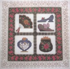 Victorian Finery The Design Connection's by Linda Bird Counted Cross Stitch Kit #TheDesignConnectionInc #Frame