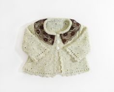 Knitted Baby Jacket  Pastel Yellow 0  3 month by SasasHandcrafts, $30.00