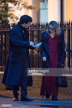 ニュース写真 : Benedict Cumberbatch spotted with an actor...