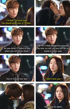 "Lee Min Ho and Park Shin Hye ♡ #Kdrama - ""HEIRS"" / ""THE INHERITORS"" // another kiss scene"