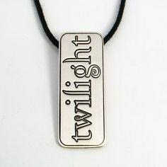 Srebrn obesek twilight - sterling silver Twilight, Dog Tag Necklace, Personalized Items, Sterling Silver, Jewelry, Jewlery, Jewerly, Schmuck, Jewels