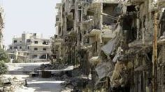 Image copyright                  Getty Images Image caption                                      The battered city of Homs has also seen renewed air strikes, reports say                                Air strikes have hit rebel-held parts of the Syrian city of Aleppo after the military declared the current cessation of violence was over.  The Syrian military and rebels have accused each other of repeatedly violating the truce which began seve