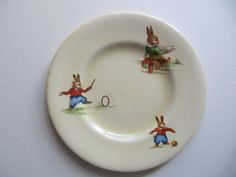 Bunny's Playtime Royal Winton porcelain by PinkBirdhouseVintage