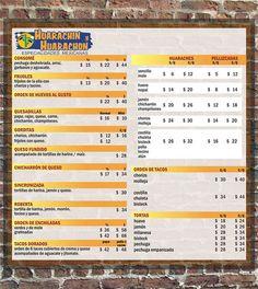 Cafe Contento Menu Spanish