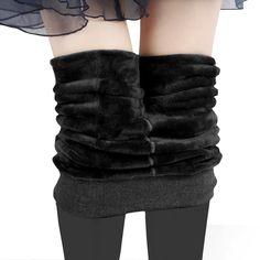 S-XL 8 Colors Women's Winter Plus Cashmere Leggings Fashion Plus Size Warm Super Elastic Faux Velvet Winter Thick Slim Leggings