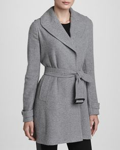 Belted Cashmere Wrap Coat by Burberry London at Neiman Marcus.