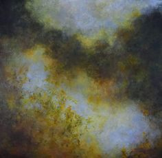 "And the Days Grow Shorter by Mary Mendla Oil/cold wax/mixed media ~ 36"" x 36"""