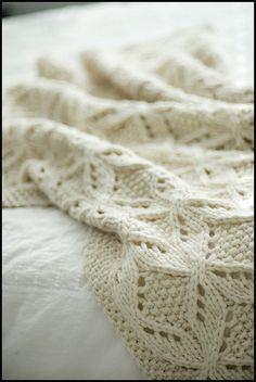 Sumptuous knit throw