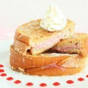 Raspberry Cheesecake Stuffed French Toast