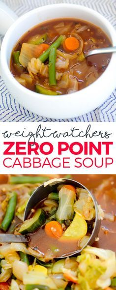 WEIGHT WATCHERS ZERO POINT CABBAGE SOUP More