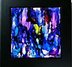 SOLD - Spring Rain   $35     This beautifully painted 4.5x4.5  inch tile is mounted in a black frame, resulting in a final size of 6x6 inches.   The painting is sealed with a light coat of varnish for protection and is ready to hang. Sargent Art, Tile, Rain, Canvas, Spring, Coat, Painting, Black, Rain Fall