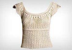 Resultado de imagem para blusa de croche adulto com gráfico