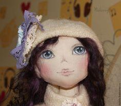 Купить Кукла авторская коллекционная Виолетта Розыгрыш - бежевый, кукла ручной работы, кукла интерьерная