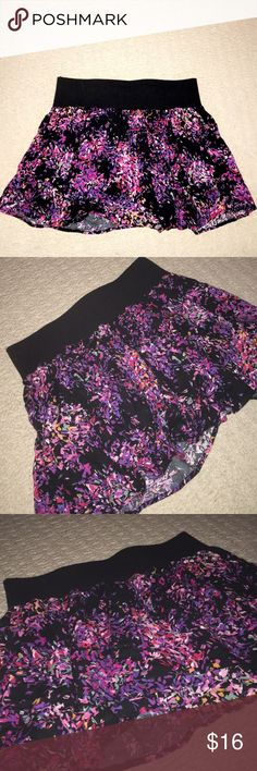Playful colored skirt Cute black skirt with colorful paint splatter pattern. Great to be worn with stockings and black top. Lily White Skirts Mini
