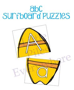 Little Piles Everywhere: ABC Surfboard Puzzles Take Home Activity