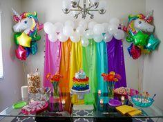 Sylvi's Rainbow & Unicorn themed 4th Birthday Party I