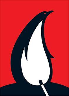 Flaming pinguin