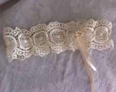 Resultado de imagen de leg garter bridal crochet pattern