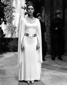 Leia's gown from the end of Episode IV: A New Hope. It's so simple but so classic and elegant at the same time!