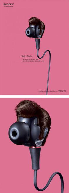 Music icons - Cuffie con i capelli di icone della musica More @ http://www.collater.al/adv/sony-music-icons-earbuds/