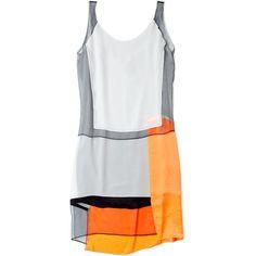 Helmut Lang Chroma Drape Paneled Dress ($591) ❤ liked on Polyvore