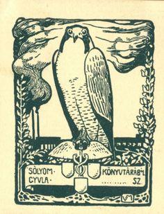 Ex libris by Aladár Körösfői-Kriesch, (Hun)(1863-1920) for Sólyom Gyula, 1906