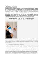 PSYCHANALYSE De Amorin