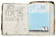 Oliver Jeffers , SKETCH BOOK 2.  made between 2005- 2008