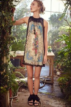 Anthropologie  Flora Vignette Dress