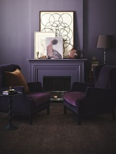 Bold & Beautiful Deep Purple Living Room | photo Angus Fergusson | design Joel Bray |House & Home